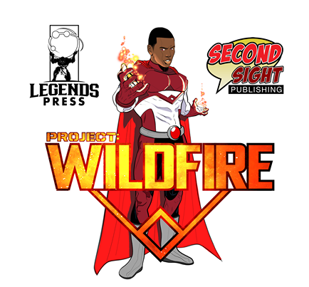 image of Project Wildfire with the logos for Legends Press and Second Sight